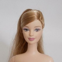 Collector Barbie Doll Pale Skin Mackie Face Long Blonde Ponytail - $29.69
