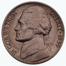 1939-D 5C Jefferson Nickel En Choix Bu État, Excellent Oeil Appeal & Luster - $49.44
