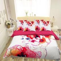 3D Orange Flower Girl 26 Bed Pillowcases Quilt Duvet Single Queen King US Summer - $102.84+