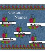 Pick up to 6 Custom Flower Split Monogram Names 200asmp-Digital Clipart-... - $4.99