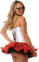 Teacher Nerd Love Roleplay Deluxe Corset Costume Set image 3