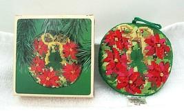 1984 Hallmark Needle Point Needlepoint Wreath Original Box  H20 - $14.85