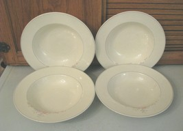 "Pfaltzgraff Trousseau Rim Soup Bowl 9 1/4"" (Set of 4) Retired Marked USA - $23.75"