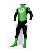 Male Green Lantern Bodysuit Lycra Spandex Zentai Cosplay Costume - $47.58