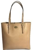 Michael Kors Shopper Tote Bag Dark Khaki Beige Saffiano Leather Large Ha... - $227.10