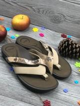 Abeo Amber Women's Slides Beige Size US 7 Neutral Footbed ( 2343 ) - $46.38