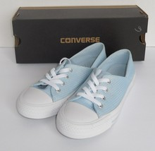 Converse Womens Size 11 Ctas Coral Ox Shoes Sneakers Powder Blue 555897F... - $39.55