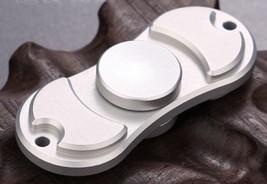 Silver Creative Fidget Spinner EDC Hand Toy Bronze Metal Focus ADHD FREE... - $7.69