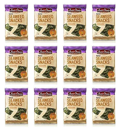 Annie Chun's Roasted Seaweed Snacks, Sesame, 0.35-ounce Pack of 12, America's #1