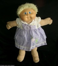 VINTAGE SHORT BLONDE CABBAGE PATCH KIDS BABY DOLL GIRL STUFFED ANIMAL TO... - $32.73