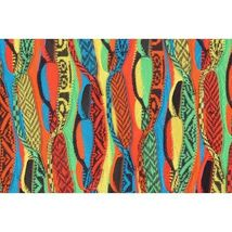 COOGI-sweater-SZ-M-100-silk-cardigan-brilliant-colorful lightweight image 3