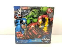 Marvels Avengers Assemble Super 3D 100 Piece Puzzle 18x12 SEALED (br2.1) - $13.99