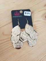 829 GOLD DANGLE EARRINGS (new) - $7.62