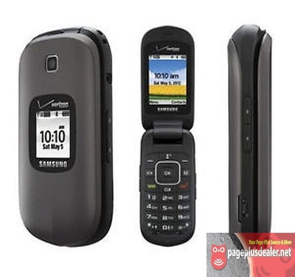 New -Samsung Gusto 2 Gray SCH-U365 (Verizon)(Page Plus) Cellular Flip Phone