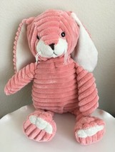 "Unipak Bunny Rabbit 14"" Pink Plush Ribbed Corduroy Stuffed Animal Toy - $13.46"