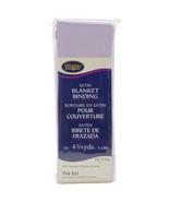 "Wrights Single Fold Satin Blanket Binding 2""X4.75yd Lavender - $9.89"