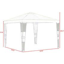 Outdoor 10' x 10' Rattan Wicker Gazebo Canopy-Beige - $176.28