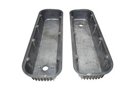 BBC BIG BLOCK CHEVY TALL FINNED POLISHED ALUMINUM VALVE COVERS 396 427 454 image 7