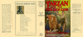 Edgar Rice Burroughs TARZAN AND THE GOLDEN LION facsimile jacket 1st mov... - $21.56