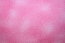 WHITE DOTS ON PINK FROM MICHAEL MILLER - 100% COTTON FABRIC  - $7.91