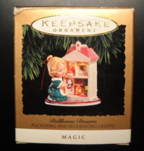 Hallmark Keepsake Christmas Ornament 1993 Dollhouse Dreams Magic Light B... - $13.99