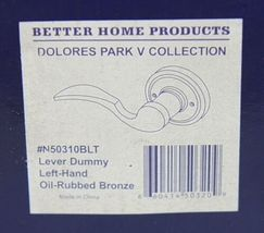 Better Home Products N50310BLT Lever Dummy Left Hand Oil Rubbed Bronze image 6