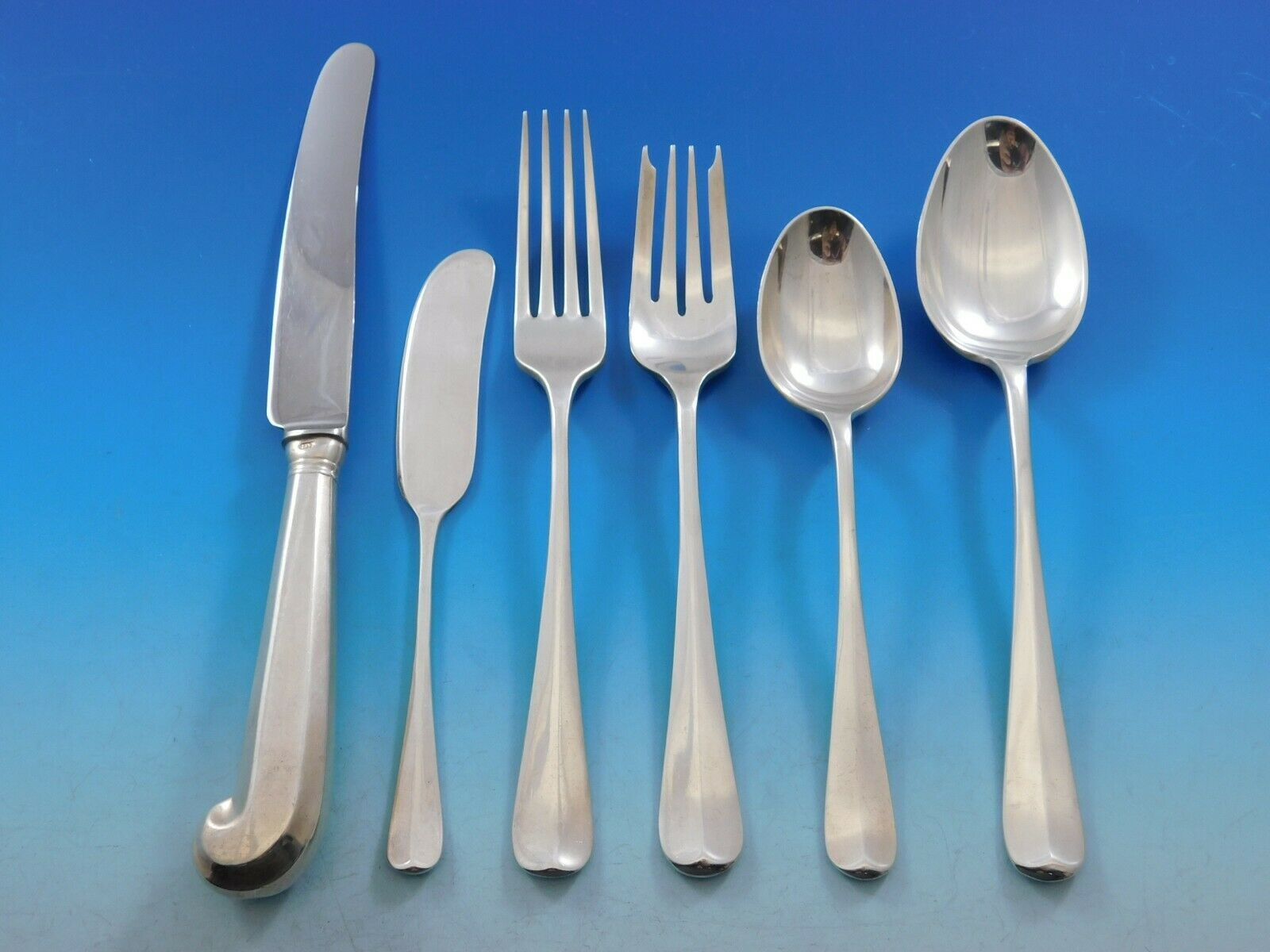 Primary image for Rat Tail by Tiffany and Co Sterling Silver Flatware Set 12 Service 74 pieces