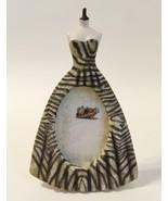 Picture Frame Party Dress Oval 2 X 3 Photo Zebra Stripe Resin Desk Table... - $25.00
