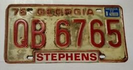 1976 Georgia License Plate - Rough Shape, Original Condition - QB-6765 - $13.49