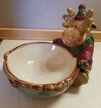 """St. Nicholas Square Heartland Whimsical Moose Serving Bowl Candy Dish 6"""" - $9.99"""