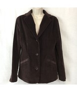 LL Bean Corduroy Jacket Blazer Womens Stretch Brown Coat Lined Button Up... - $47.83