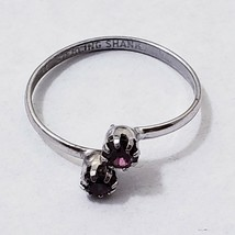 Purple gem OPEN SHANK RING vintage sterling silver  sale - $15.84