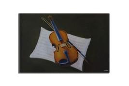 Ansavv Violin  Multicolor Oil On Canvas Painting - $204.00
