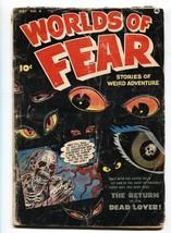 WORLDS OF FEAR #4 pre-code horror comic 1952-FAWCETT- Zombie-Eyes cover - $93.12