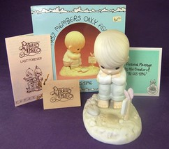 Precious Moments IN HIS TIME Boy Waiting PM-872 Box Tag CEDAR TREE 1987 ... - $5.00