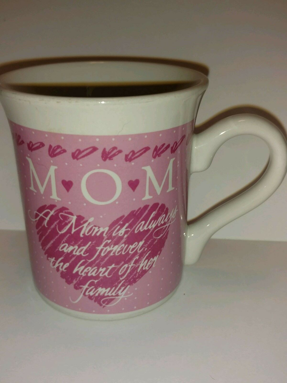 Primary image for Vintage 1988 Hallmark Pink Coffee Mug smiley Face series for MOM - collectible