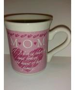Vintage 1988 Hallmark Pink Coffee Mug smiley Face series for MOM - colle... - $22.76