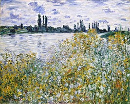 Ile aux Fleurs near Vetheuil Painting by Claude Monet Art Reproduction - $32.99+