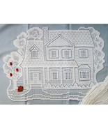 Set of 4 NEW Heritage Lace Victorian House Placemats w/ Apple Tree Baske... - $25.00