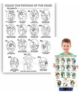 50 PACK The Stations of The Cross Color Your Own Poster Arts and Craft A... - $44.36