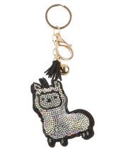 Tassel Bling Pave Crystal Llama Alpaca Pillow Key Chain Handbag Charm Key Fob image 1