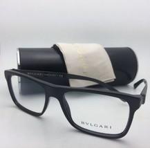 Nuevo Bvlgari Gafas 3028 501 55-17 140 Negro Montura con Fibra de Carbono Sobres
