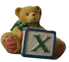 "1995 Alphabet Bear with ""X"" Block 158488X Priscilla Hillman Cherished Te... - $9.90"