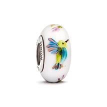 Fenton Art Glass Bracelet Charm Bead Kaleidoscope Hummingbird Hand Craft... - $45.00