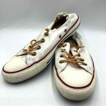 Converse All Star Women's White Size 9 Sneakers Slip On Leather Laces - $39.98
