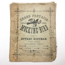 Grand Fantasia The Mocking Bird Sheet Music 1864 Hoffman Antique Complete - $19.75