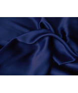 Silk~Y Lingerie Silky Satin Sheet Set Queen Navy/Blue - $24.99