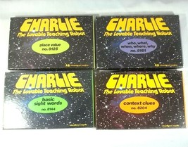 Vintage Charlie The Lovable Teaching Robot Cards Lot of 4 Sets - $32.62