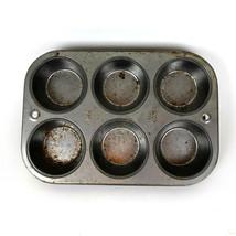 Vintage Ekco USA Muffin Pan #160 Cupcake Biscuit Metal Tin Baking 160 Ba... - ₨677.27 INR