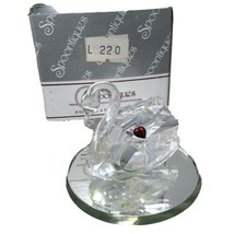 Vintage Spoontiques  Crystal Swan Figurine with Mirror and Box - $23.74